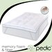Memory Plus Deluxe Memory Foam and Fiber Bed Topper with Anchor Bands