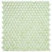 """<strong>Posh 5/8"""" x 5/8"""" Penny Round Porcelain Mosaic Wall Tile in Mint</strong> by EliteTile"""