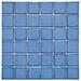 "EliteTile Pool 2"" x 2"" Porcelain Mosaic in Cerulean"