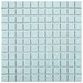 "<strong>EliteTile</strong> Retro 1"" x 1"" Porcelain Mosaic Tile in Matte Light Blue"