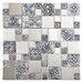 <strong>EliteTile</strong> Metallic Random Sized Resin and Stainless Steel Over Porcelain Mosaic Tile in Silver
