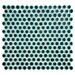 """<strong>Penny 3/4"""" x 3/4"""" Porcelain Mosaic Tile in Emerald</strong> by EliteTile"""