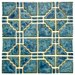 <strong>Moonlight  Random Sized Porcelain Mosaic in Pacific Blue</strong> by EliteTile