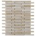 "<strong>EliteTile</strong> Arcadia 3-1/2"" x 1/2"" Glazed Porcelain Brick Mosaic in Perla Bone"