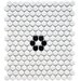 "Retro 11-1/2"" x 9-7/8"" Glazed Porcelain Penni Mosaic in Matte White with Flower"