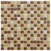 "<strong>EliteTile</strong> Metal Midtown 3/4"" x 3/4"" Glazed Porcelain Mosaic in Beige"