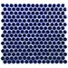 """<strong>Penny 3/4"""" x 3/4"""" Glazed Porcelain Mosaic in Cobalt</strong> by EliteTile"""