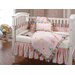 Happy Flowers Quilted Crib Bedding Set