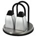 Stainless Steel Napkin Holder with Salt and Pepper Shaker