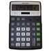 Sharp EL-R297BBK Recycled Series Calculator w/Kick-stand, 12-Digit, LCD, Black