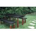 Modern Outdoor Kenji Steel and Wood Bench