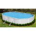 "Belize Oval 52"" Above Ground Pool Package in Highland Gray"