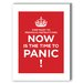 <strong>Panic Textual Art on Canvas in Red</strong> by Americanflat