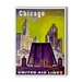 Americanflat Chicago United Airlines Vintage Advertisement on Canvas