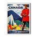 <strong>Canada Go Greyhound Vintage Advertisement on Canvas</strong> by Americanflat