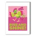 <strong>Rise and Shine Graphic Art on Canvas in Pink</strong> by Americanflat