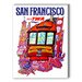Americanflat San Francisco Fly TWA Graphic Art on Canvas