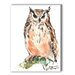 Owl Painting Print on Canvas by Americanflat