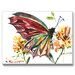 Butterfly Painting Print on Canvas by Americanflat