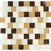 "<strong>MS International</strong> Desert Mirage 1-1/4"" x 1-1/4"" Glass Stone Mesh Mounted Mosaic Tile in Multi"