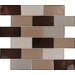 "<strong>MS International</strong> Ayres 4"" x 2"" Blend Glass Mesh Mounted Mosaic Tile in Multi"
