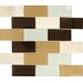"<strong>MS International</strong> Desert Mirage 4"" x 2"" Glass Stone Mesh Mounted Mosaic Tile in Multi"