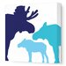 <strong>Animals Moose Stretched Canvas Art</strong> by Avalisa