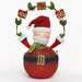 Musical Santa Figurine with Moving Head