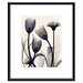 Tulip and Daisy Metal Framed Art Print