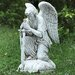 Kneeling Male Angel Statue