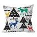 DENY Designs Zoe Wodarz Geo Woodland Trees Throw Pillow