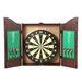Trademark Global TGT Dartboard Cabinet Set in Realistic Walnut