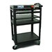 Buhl Height Adjustable AV Media Cart with Three Stationary Shelves