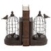 Metal and Polystone Bird Cage Book Ends