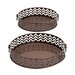 <strong>Stylish and Rusty 2 Piece Round Shaped Tray Set</strong> by Woodland Imports