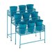 <strong>Woodland Imports</strong> Metal 3 Tier Rectangular Plant Stand Pedestals