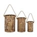 <strong>Woodland Imports</strong> Exclusive 3 Piece Unique Styled Metal Lantern Set
