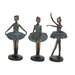 <strong>3 Piece Loveliest Polystone Dancers Figurine Set</strong> by Woodland Imports