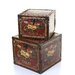 <strong>2 Piece Wooden Leather Storage Box Set</strong> by Woodland Imports
