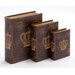 <strong>3 Piece Wooden Book Box Set</strong> by Woodland Imports