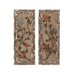 2 Piece Attractive Metal Wooden Framed Wall Décor Set