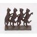 Row of Lexington Standing Cats Figurine