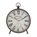 <strong>Marcus Metal Table Clock</strong> by Woodland Imports