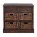 <strong>Woodland Imports</strong> Manhattans Coppice 6 Drawer Basket Chest