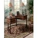 Connoisseur's Demilune Writing Desk with Leather Top by Butler