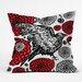 DENY Designs Julia Da Rocha Raven Rose Throw Pillow