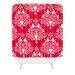 DENY Designs Jacqueline Maldonado Christmas Paper Cutting Woven Polyester Shower Curtain