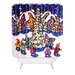 DENY Designs Renie Britenbucher Oh Christmas Tree Woven Polyester Shower Curtain