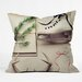 The Light Fantastic Christmas Card Throw Pillow by DENY Designs
