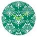 DENY Designs Jacqueline Maldonado Christmas Paper Cutting Wall Clock